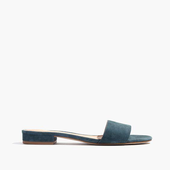 The Caren Slide Sandal in Suede
