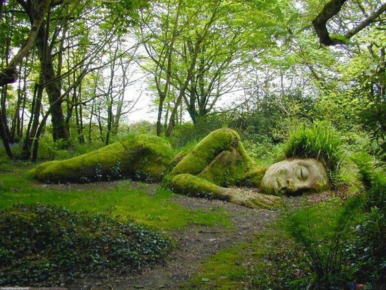 Sleeping Goddess at the Lost Gardens of Heligan, England.