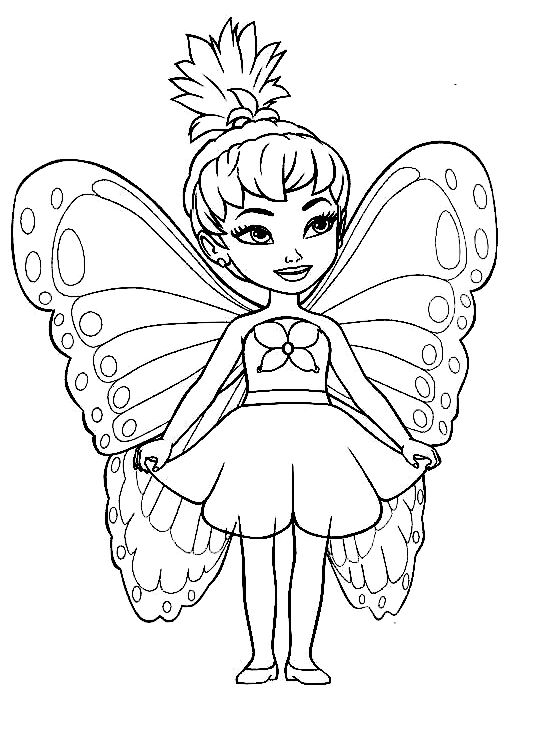 Cute Fairy | Coloring Pages for Girls | Pinterest | Cute ...