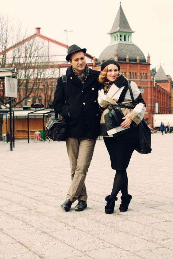 maternity (couple!) street style