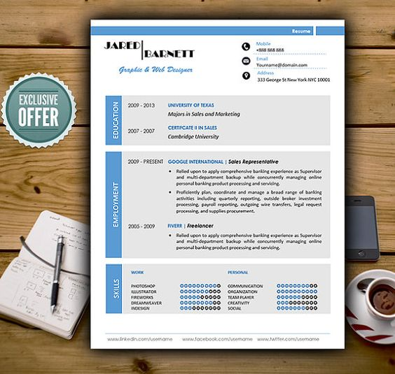 The Sparrow Resume + Cover Letter Cube Resumes Get yourself - banking cover letter for resume