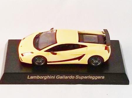 1/64 Kyosho Mini CAR Die-cast Italy Lamborghini Gallardo Superleggera Yellow