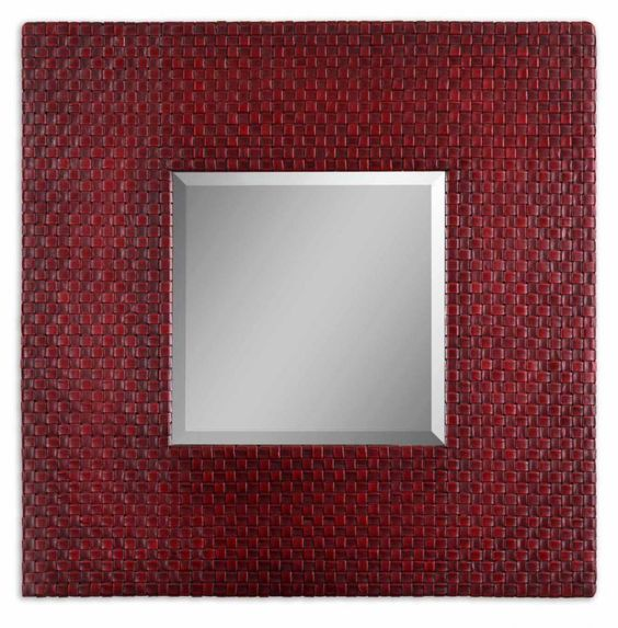 This mirror has a Red Finish and is part of the Maulana Collection.