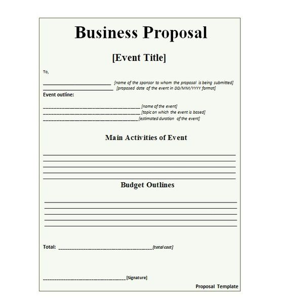 Funding Proposal Template Proposal Cover Page Template Business
