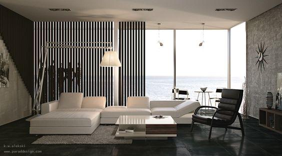 Modernes HausDesign (moderneshaus) on Pinterest - wohnzimmer grun weis grau