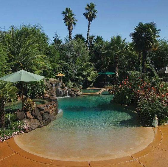 Beach pool #casas #espacios #piscinas