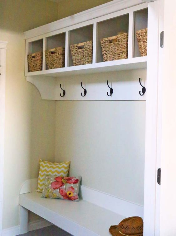 17 Best Images About Narrow Mudroom Cubbies Hooks And