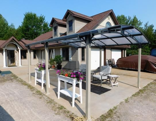 Palram Arcadia Used As A Patio Review Home Depot This Palram Carport Is Probably The Nicest Pre Engineered I Car Canopy Carport Polycarbonate Roof Panels