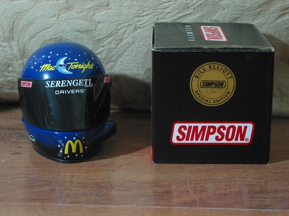 BILL ELLIOTT Mac Tonight 1997 Simpson ARC Special Edition Nascar Mini Helmet   1.8P723B48717JUNK0214,252  http://ajunkeeshoppe.blogspot.com/