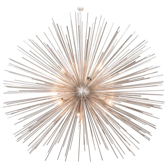 An Monumental Midcentury Brass Sputnik Chandelier | From a unique collection of antique and modern chandeliers and pendants at https://www.1stdibs.com/furniture/lighting/chandeliers-pendant-lights/