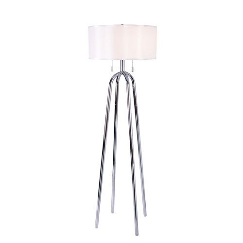 251 First Uptown Chrome Two Light Floor Lamp With Images Lamp Floor Lamp Transitional Floor Lamps