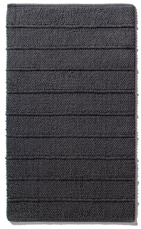 Moderner Anthrazitfarbener Beiseitig Verwendbarer Badteppich Aus 100 Baumwolle Handgewebt Gekammt Und Ringgesponnen Geeignet F Badteppich Teppich Anthrazit