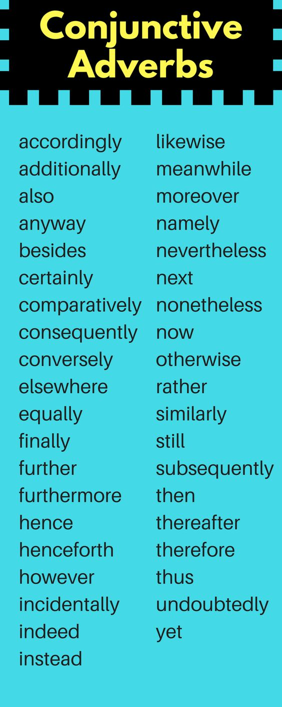 Adverbs Conjunctive