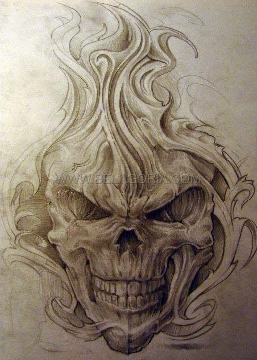 Disenos De Demonios Y Diablos Belagoria La Web De Los Tatuajes Craneos Y Calaveras Imagenes De Calavera Diseno De Tatuaje De Calavera