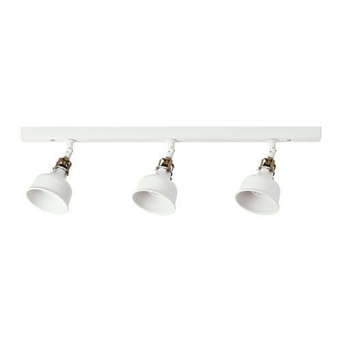 RANARP white off white, Ceiling track, 3 spots IKEA | Ikea