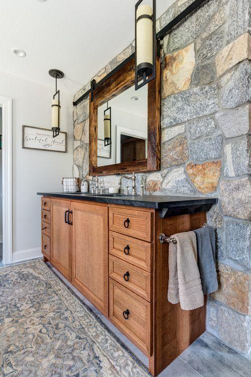 Reclaimed Rustic Barn Door Mirror Medicine Cabinet This Vanity By Starmark Is Top Kitchen Bathroom Remodel Bathroom Remodel Master Rustic Medicine Cabinets