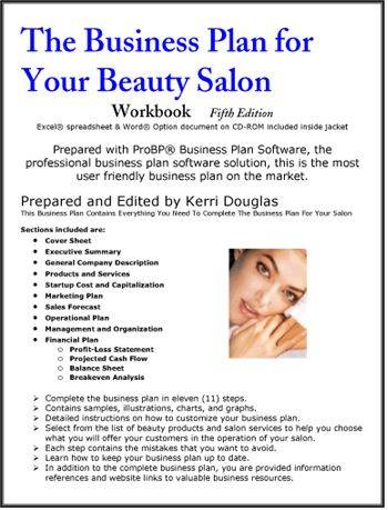 Beauty salon and day spa business plan