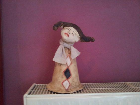 Harlekin - Keramik handgemacht von Iris Böttcher ca. 30 cm gross 120,00 € von Iris Böttcher