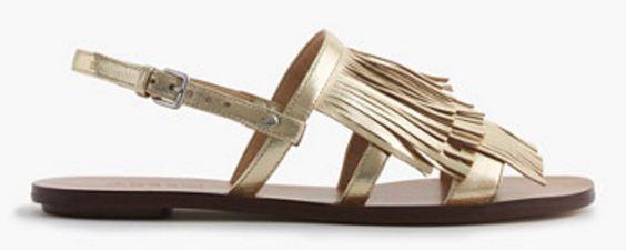 Fringe Sling-Back Sandals