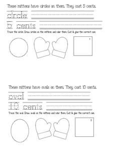Mitten activities: This FREE mitten-themed emergent reader covers shapes, Dolch words, and coins.