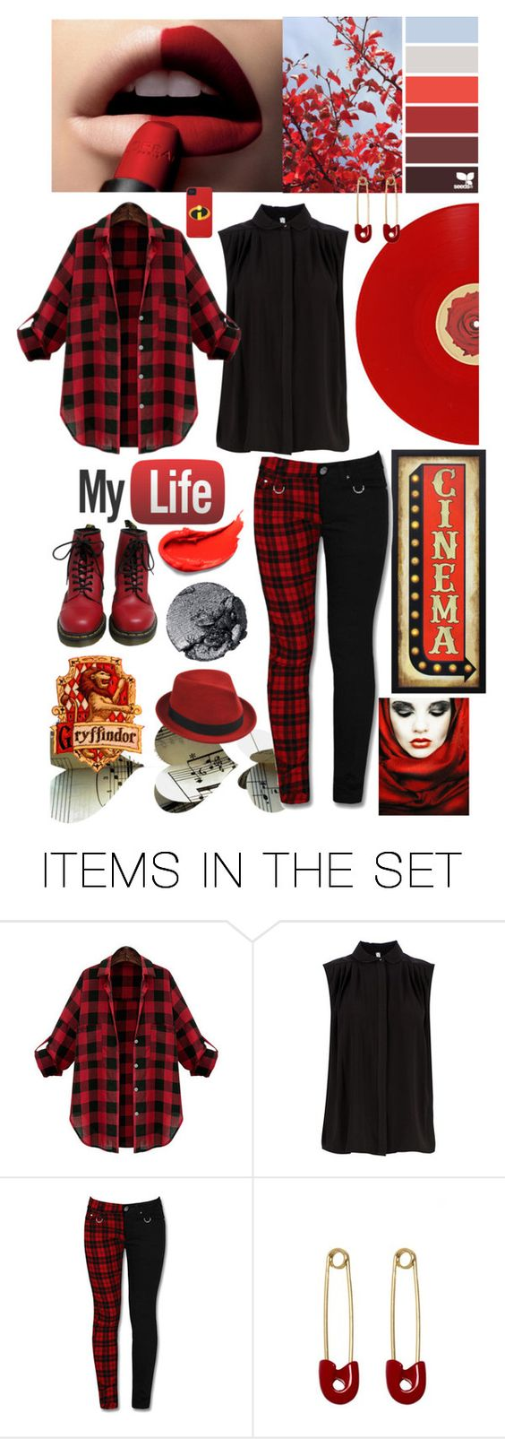 """bordo red rules"" by ira-andrea-potnar ❤ liked on Polyvore featuring art"