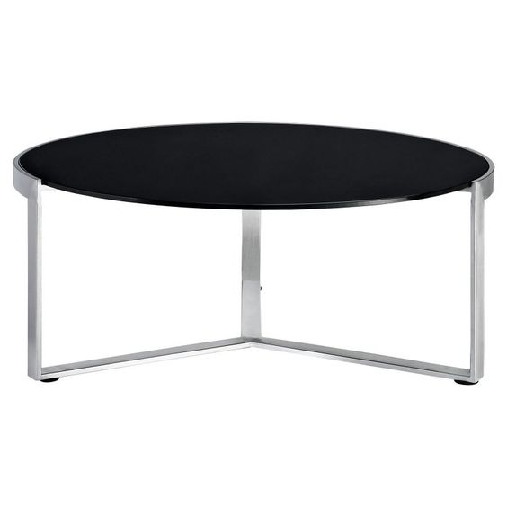 Modway Disk Coffee Table - Black - EEI-256-BLK