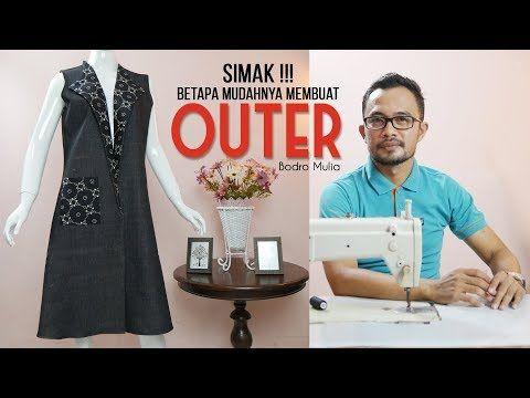Membuat Outer Youtube Rompi Wanita Pola Menjahit Pakaian Busana Pria