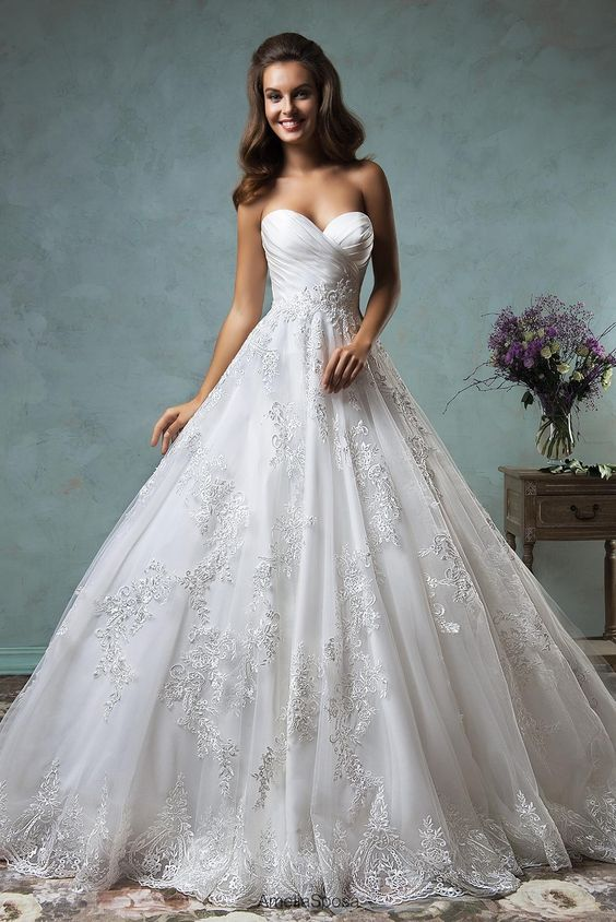 Wedding Dress Shopping Amelia Sposa 2016 Sweetheart Wedding Dresses Pleated Appliqued Organza Ball Gown Bridal Gowns With Chapel Train And Open Back Custom Made Wedding Dresses For Pregnant Women From Nicedressonline, $202.05  Dhgate.Com