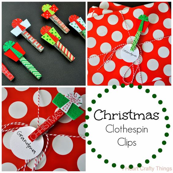 I HEART CRAFTY THINGS: Christmas Clothespin Clips