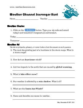Worksheet Internet Scavenger Hunt Worksheet scavenger hunts and internet hunt on pinterest weather hunt