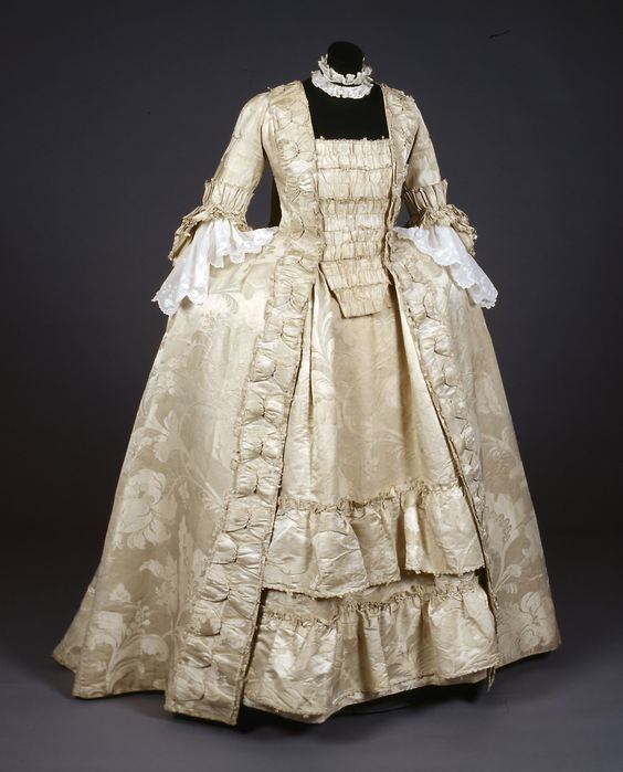 Robe à la française, 1760's-70's From the Gemeentemuseum