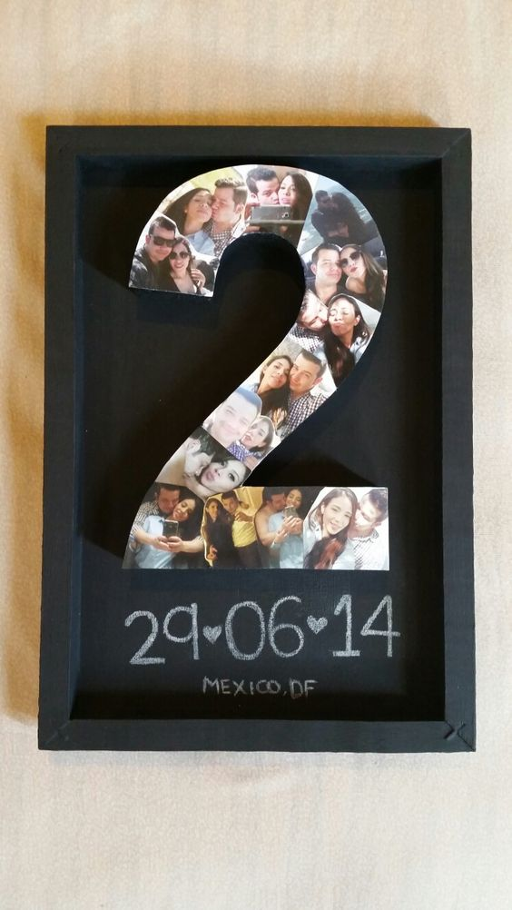 Two years anniversary couple craft gift boyfriend for Gifts for your boyfriend just because
