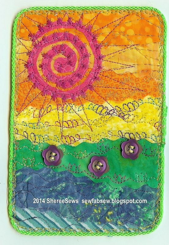 Spring Landscape Fabric Postcard | Flickr - Photo Sharing!