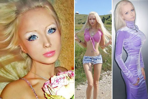 """Ukrainian model Valeria Lukyanova has used cosmetics and seemingly cosmetic surgery to become a living Barbie doll. In the process, Valeria has become, as she claims, the """"most famous Russian woman on the Russian-language Internet"""".    Re pin If you if u find this a little too much #omg"""
