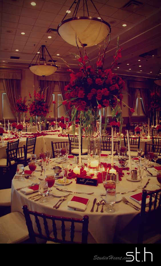 Studio Heart - Kaitlin & Jonathan's Old Hollywood Black & Red Inspired Wedding