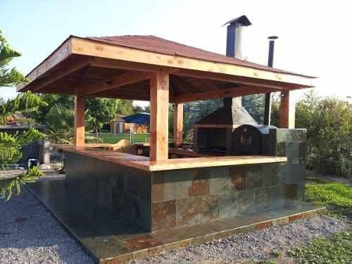 Quinchos parrillas y hornos de barro quincho pinterest for Como construir una piscina en chile