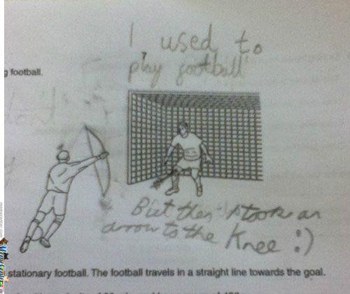 Football Entrance Exam... funny, lol....?