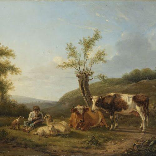 Landschap met vee bij Darthuizen, Hendrik Stokvisch, 1814 - Rijksmuseum