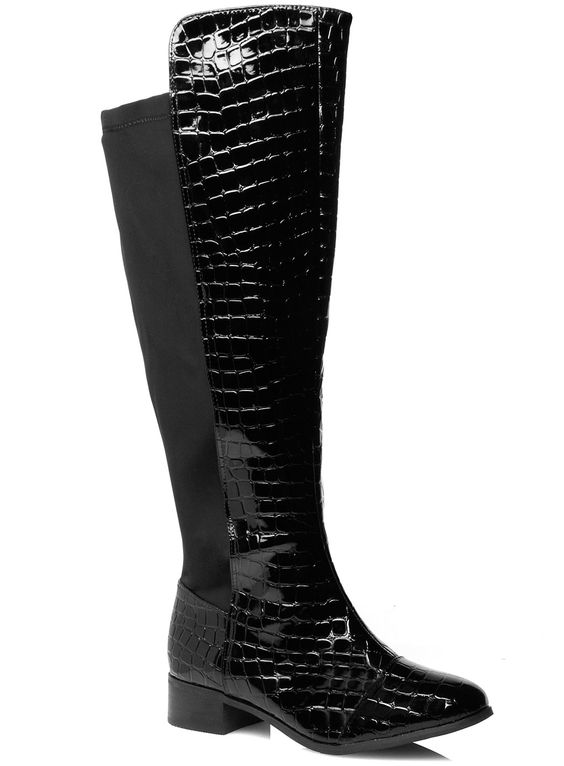 Perfect for completing your gorgeous autumnal style. The over-the-knee boot is a must-have AW13 trend and designed with a fully elasticated back panel to adapt to your calf shape. Exclusively by Evans - www.evans.co.uk