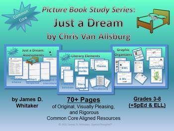 Just a Dream Chris Van Allsburg Book Study -- 70+ Pages!