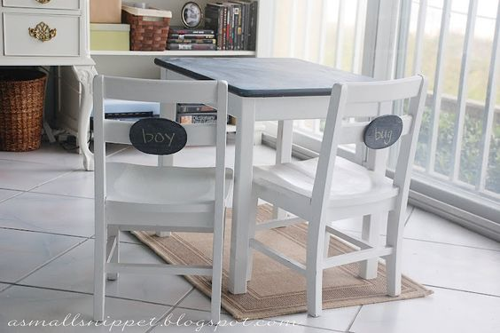 Small table with Chalkboard top!!
