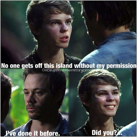 Peter Pan... Oh that smile melts my heart. Why do u have to be so evil Peter Pan. Rewatching season 3 just to see him :)