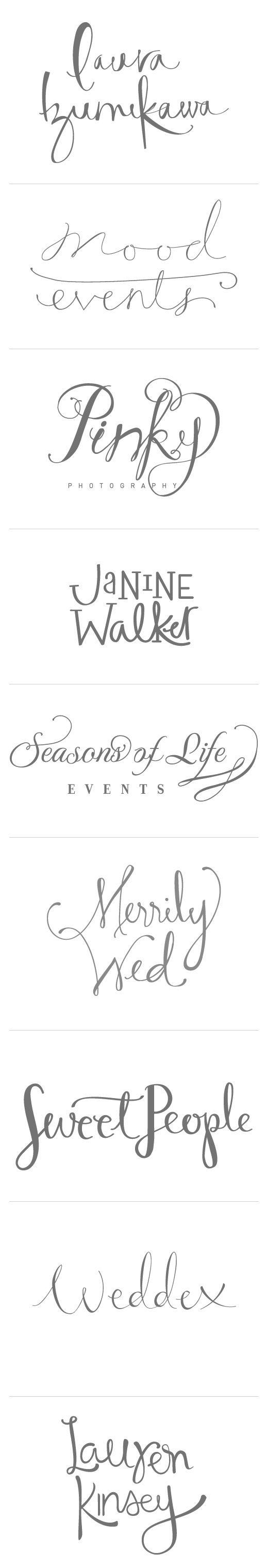 Various calligraphy logos pinterest