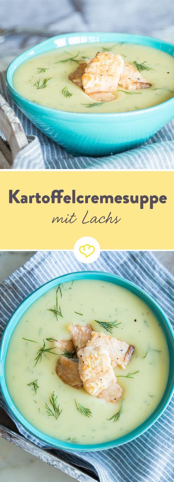 Dank kross gebratenem Lachs und frischem Dill gibt's mit dieser klassischen Kartoffelsuppe löffelweise puren Genuss für alle Cremesuppen-Liebhaber.