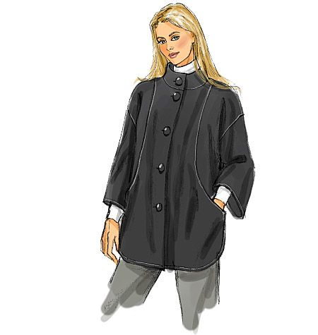 B5691, Women's Cape and Jacket