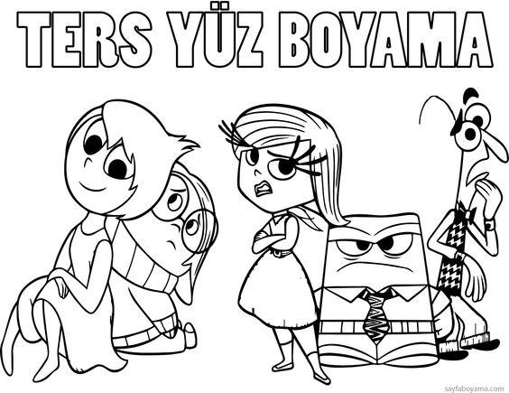 Ters Yuz Boyama Sayfalari Boyama Sayfalari 3d Animasyon Yuzler
