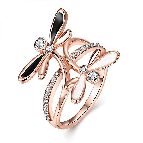 diamonds Ring woman gold ring and zircons christmas gift fiancee love