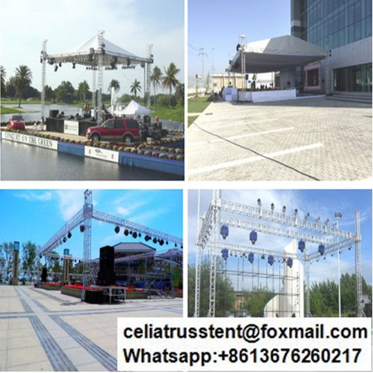 Qatar Stage Lighting Truss Customized Stage Lighting Lighting Truss Portable Stage