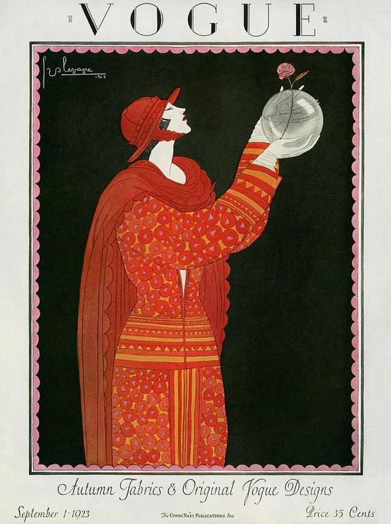 Vogue Cover Featuring A Woman Holding A Bowl Photograph by Georges Lepape