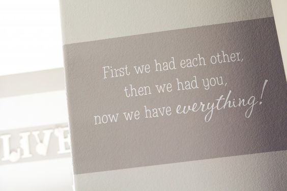 "We <3 this wall decal for the #nursery! ""Now We Have Everything"""